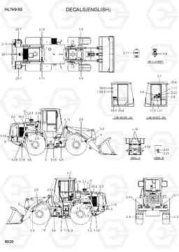 8020 DECALS(ENGLISH) HL740-9B(BRAZIL), Hyundai