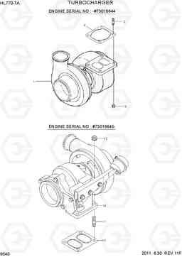 Турбокомпрессор (турбина) фронтального погрузчика