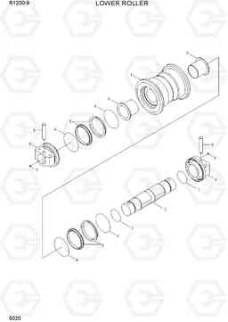 5020 LOWER ROLLER R1200-9, Hyundai