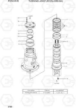 4190 TURNING JOINT (R125LCRD-9A) R125LCR-9A, Hyundai
