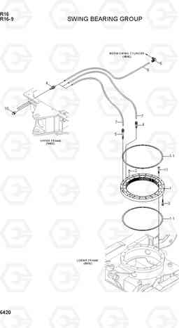 6420 SWING BEARING GROUP R16-9, Hyundai