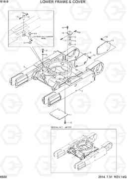 6500 LOWER FRAME & COVER R16-9, Hyundai