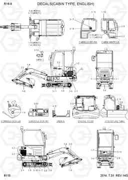 8110 DECALS(CABIN TYPE,ENGLISH) R16-9, Hyundai