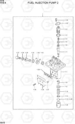 9310 FUEL INJECTION PUMP 2 R16-9, Hyundai
