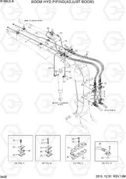 3405 BOOM HYD PIPING(ADJUST BOOM) R160LC-9, Hyundai