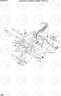 4430 QUICK CLAMP(CLOSE TYPE 2, -#0263) R160LC-9, Hyundai