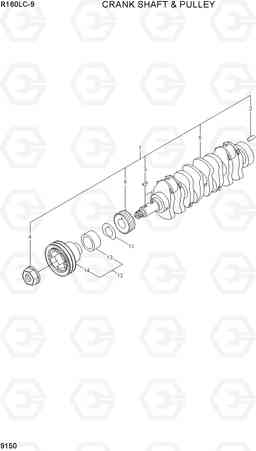 9150 CRANKSHAFT & PULLEY R160LC-9, Hyundai