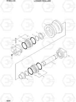 5020 LOWER ROLLER R160LC-9S, Hyundai