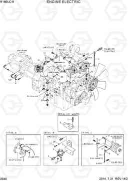 2040 ENGINE ELECTRIC R180LC-9, Hyundai