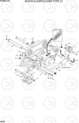 4430 QUICK CLAMP(CLOSE TYPE 2, -#0102) R180LC-9, Hyundai