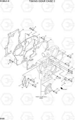 9100 TIMING GEAR CASE 2 R180LC-9, Hyundai