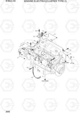 2045 ENGINE ELECTRIC(CLUSTER TYPE 2) R180LC-9S, Hyundai