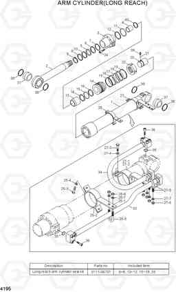 4195 ARM CYLINDER(LONG REACH) R210LC-7A, Hyundai
