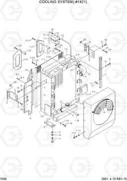 1030 COOLING SYSTEM(-#1421) R290LC-3H, Hyundai