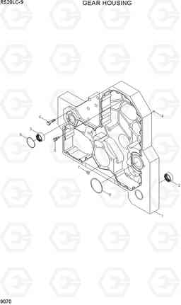 9070 GEAR HOUSING R520LC-9, Hyundai