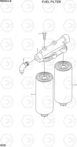9220 FUEL FILTER R520LC-9, Hyundai