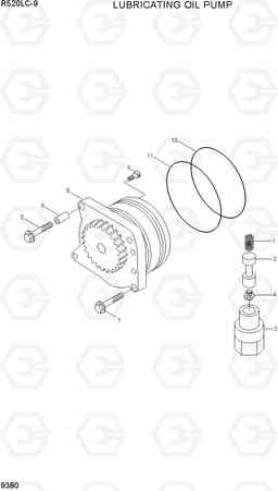 9380 LUBRICATING OIL PUMP R520LC-9, Hyundai