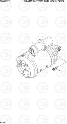 9450 START MOTOR AND MOUNTING R520LC-9, Hyundai