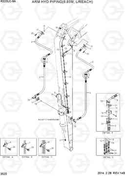 3520 ARM HYD PIPING(6.85M) R520LC-9A, Hyundai