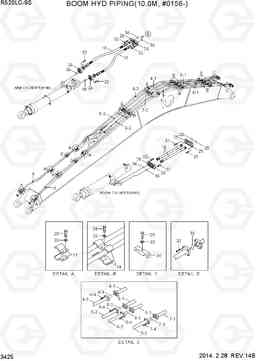 3425 BOOM HYD PIPING(10.0M, #0156-) R520LC-9S, Hyundai