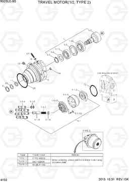 4132 TRAVEL MOTOR(1/2, TYPE 2) R520LC-9S, Hyundai