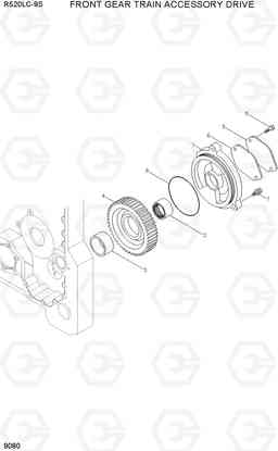 9080 FRONT GEAR TRAIN ACCESSORY DRIVE R520LC-9S, Hyundai