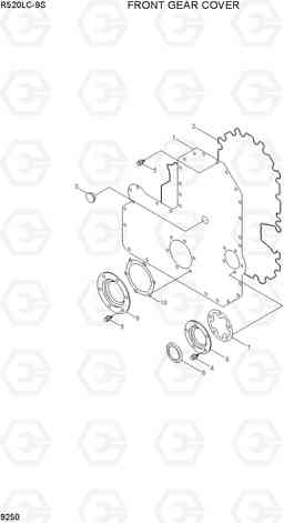 9250 FRONT GEAR COVER R520LC-9S, Hyundai