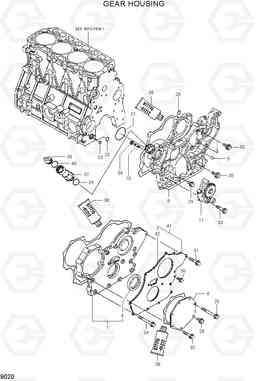 9020 GEAR HOUSING R55-7, Hyundai