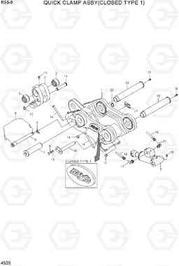 4520 QUICK CLAMP ASSY(CLOSED TYPE 1, -#3201) R55-9, Hyundai