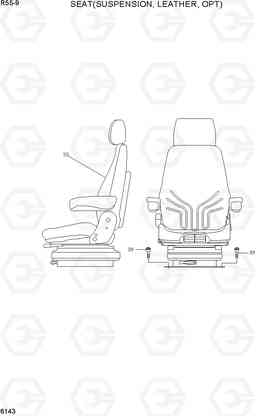 6143 SEAT(SUSPENSION, LEATHER, OPT) R80CR-9, Hyundai
