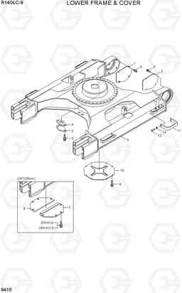 6410 LOWER FRAME & COVER R140LC-9(INDIA), Hyundai